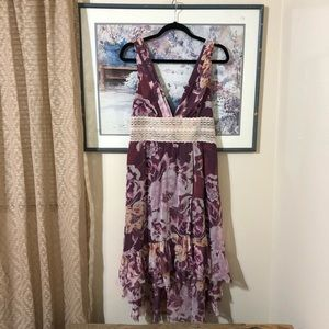 Free People Floral Lavender Dress